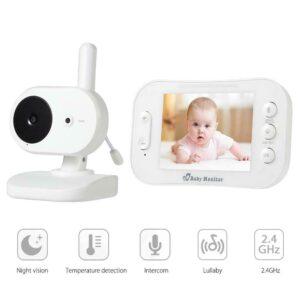 pazari4all.gr-Ασύρματη ψηφιακή οθόνη μωρού με LCD 3,5 ιντσών με αμφίδρομη οθόνη ήχου και Βίντεο SP852