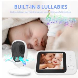 pazari4all.gr-Ασύρματη βιντεοκάμερα μωρού με LCD Οθόνη 3.5 ιντσών με αμφίδρομη ομιλία νυχτερινής όρασης