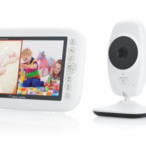 pazari4all.gr-Ασύρματη κάμερα μωρού με οθόνη 7 ιντσών LCD και νυχτερινή λήψη