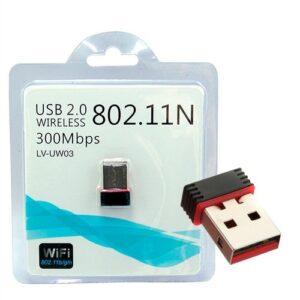 pazari4all.gr-300Mbps USB 2.0 Wireless Adapter Mini Wi-Fi Receiver - LV-UW03