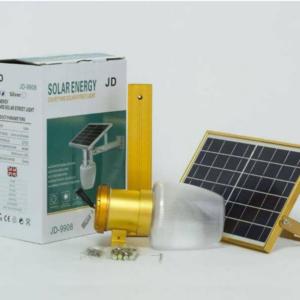 SUNTEK JD-9908 Ηλιακό Φωτιστικό 10W LED Με Αισθητήρα Φωτός Χρυσό
