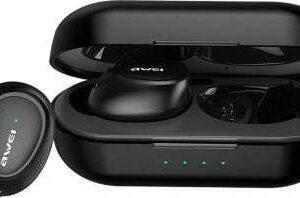 pazari4all.gr-Awei T16 Ασύρματα Bluetooth Ακουστικά με Βάση Φόρτισης Μαύρο