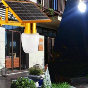 SUNTEK JD-9908 Ηλιακό Φωτιστικό 10W LED Με Αισθητήρα Φωτός Χρυσό-pazari4all.gr