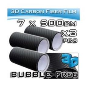 pazari4all.gr-Διακοσμητικές Αυτοκόλλητες Ταινίες 3D CARBON - Σετ 3 Ρολών 7×500cm