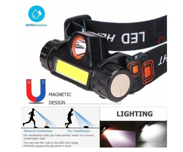 pazari4all.gr-LED Φακός Κεφαλής Υψηλής Ισχύος 12000LM