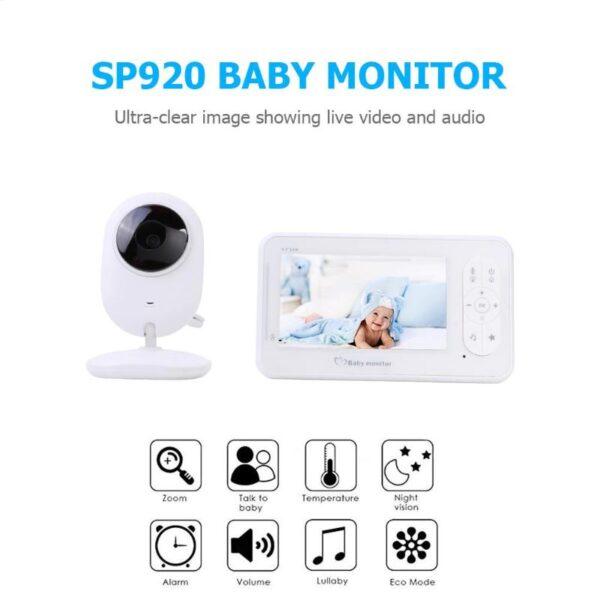 Ασύρματη ψηφιακή οθόνη μωρού με Έγχρωμη Υψηλή Ανάλυση και νυχτερινή λήψη 4.3inch SP920