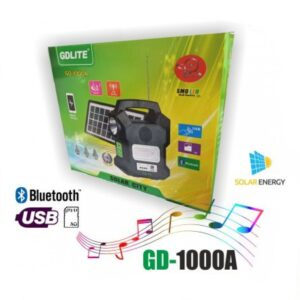 pazari4all.gr-Φωτοβολταικό Σύστημα ηλιακού φωτισμού PARTY-FM-MP3 Bluetooth GD-1000A