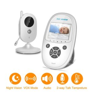 pazari4all.gr-Ασύρματη βιντεοκάμερα μωρού με LCD Οθόνη 2,4 ιντσών με αμφίδρομη ομιλία νυχτερινής όρασης ZR302