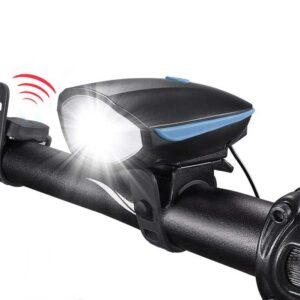 pazari4all.gr-Επαναφορτιζόμενο φως ποδηλάτου Zacro με κόρνα 250 Lumen πολυλειτουργικό