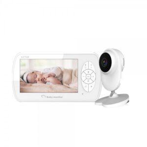 pazari4all.gr-Ασύρματη κάμερα μωρού με οθόνη 4,3 ιντσών 1080P HD IR Night Vision-BM520