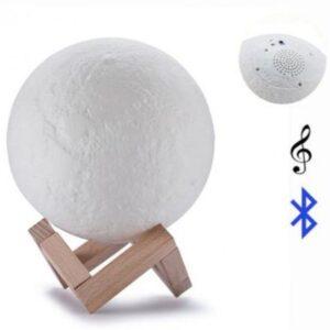 pazari4all.gr-Επαναφορτιζόμενη λάμπα πανσέληνος και ηχείο Bluetooth