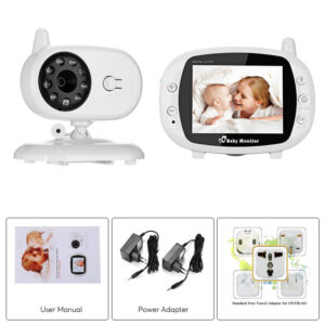 pazari4all.gr-Ασύρματη ψηφιακή οθόνη μωρού με LCD 3,5 ιντσών με αμφίδρομη οθόνη ήχου και Βίντεο