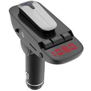 pazari4all.gr-ER9 Wireless FM Transmitter Car MP3 Player με Ακουστικό Bluetooth - Μαύρο
