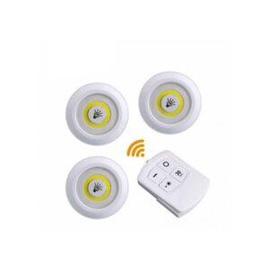 pazari4all.gr-Ασύρματοι Λαμπτήρες Ultra Bright COB 3 Pack Cob Led Wireless Automatic με τηλεχειριστήριο