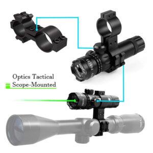 Πράσινο Laser για Airsoft όπλα με 2 βάσεις επαναφορτιζόμενο-pazari4all.gr