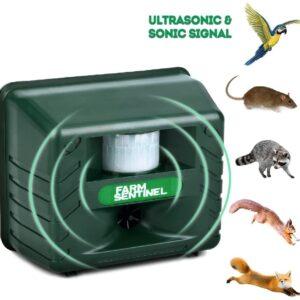 pazari4all.gr-Υπερηχητικός απωθητής παρασίτων Αδιάβροχος για Πουλιά Γάτες Σκύλους με ανίχνευση Κίνησης