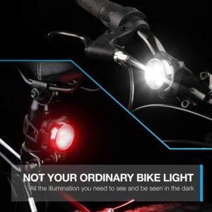 pazari4all.gr-Επαναφορτιζόμενο φώς ποδηλάτου Led εμπρόσθιο & οπίσθιο.