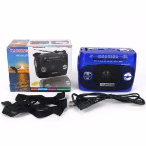pazari4all.gr-Επαναφορτιζόμενο Mini Fm φορητό ραδιόφωνο με φακό LED AM FM SW USB SD TF Player