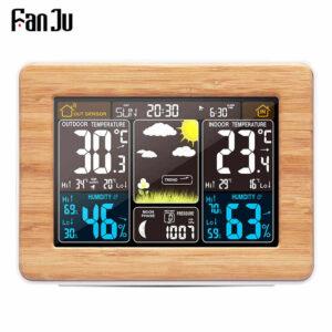 pazari4all.gr-Ψηφιακό ξυπνητήρι FanJu FJ3365 πολλαπλών λειτουργιών και μετεωρολογικός σταθμός.