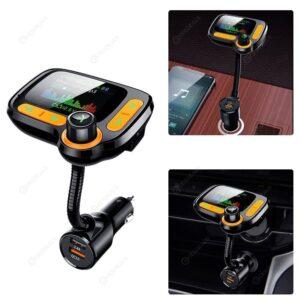 "pazari4all.gr-C86 Car Bluetooth FM Transmitter 5.0 MP3 με ""TFT Έγχρωμη οθόνη και Ανίχνευση τάσης Διακόπτη"