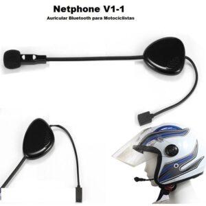 pazari4all.gr-Στερεοφωνικό Ασύρματο ακουστικό Bluetooth για κράνη μοτοσικλέτας V1-2A