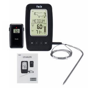 pazari4all.gr-Ψηφιακό Θερμόμετρο Ακίδας για την Κουζίνα Με Ασύρματο Δέκτη FANJU