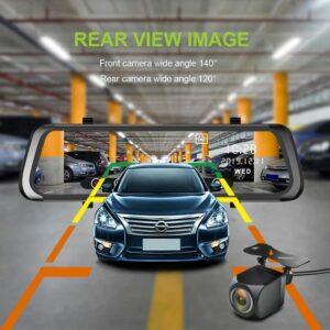 Καθρέπτης Κάμερα 10 inch καταγραφής Front-Rear και με κάμερα οπισθοπορίας.-pazari4all.gr