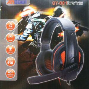 pazari4all.gr-Ακουστικά κεφαλής Gaming με μικρόφωνο PS4, X ONE, PC, ANDOWL QY-881