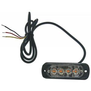 Φανάρι led πορτοκαλί με διαφορετικές λειτουργίες LED 12/24V 4 SMD IP66 OEM-pazari4all.gr