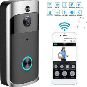 Αυτό το ασύρματο κουδούνι μπορεί να συνδεθεί στο δίκτυο του WiFi που έχετε στον χώρο σας, και να ενεργοποιηθεί μια αμφίδρομη ενδοεπικοινωνία μεταξύ του κουδουνιού και του κινητού σας τηλεφώνου. Όταν ένας επισκέπτης πιέσει το κουδούνι-pazari4all.gr