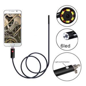 Αδιάβροχη ενδοσκοπική κάμερα κινητού/υπολογιστή με καλώδιο 5m OEM-pazari4all.gr
