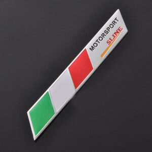 pazari4all.gr-Αυτοκόλλητο Αλουμινίου Motorsport SLINE Πράσινο-Κόκκινο - Λευκό