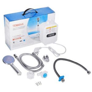pazari4all.gr-Μίνι Ηλεκτρικός Ταχυθερμοσίφωνας Μπάνιου Με LCD Οθόνη TEMMAX RX021