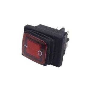 pazari4all.gr-Αδιάβροχος Διακόπτης/Κουμπί Εναλλαγής με LED – Rocker Switch On/Off 12V – Μαύρο, Κόκκινο