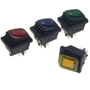 pazari4all.gr-Αδιάβροχος Διακόπτης/Κουμπί Εναλλαγής με LED – Rocker Switch On/Off 12V – Μαύρο, Μπλε