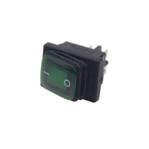 pazari4all.gr-Αδιάβροχος Διακόπτης/Κουμπί Εναλλαγής με LED – Rocker Switch On/Off 12V – Μαύρο, Πράσινο