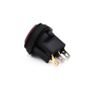 pazari4all.gr-Αδιάβροχος Στρογγυλός Διακόπτης/Κουμπί Εναλλαγής με LED – Rocker Switch On/Off 12V – Μαύρο, Πράσινο