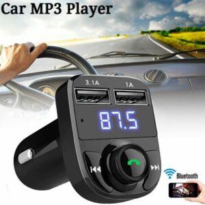 Bluetooth USB, SD MP3 Player Φορτιστής 2x USB 1 2A Αυτοκινήτου – Car FM Transmitter-pazari4all.gr