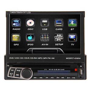 DVD Multimedia Ηχοσύστημα Bluetooth Αυτοκινήτου 1 DIN με TFT Οθόνη Αφής OEM.