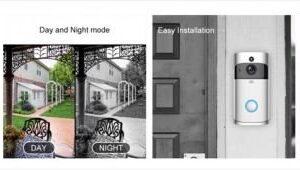 Fi δικτυακό κουδούνι εξωτερικής πόρτας με 1MP Full HD κάμερα, ευρυγώνιο φακό με γωνία θέασης 166°, υπέρυθρο φωτισμό (IR) εμβέλειας ως 5m, WDR, νυχτερινή λήψη και αμφίδρομo ήχο-pazari4all.gr
