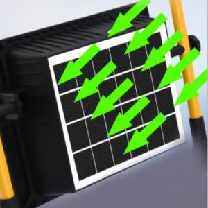 Ηλιακός προβολέας 100w με μεταλλική βάση στήριξης ΟΕΜ.-pazari4all.gr