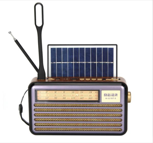 Ηλιακό επαναφορτιζόμενο Vintage φορητό Hχοσύστημα M-521BT-S-pazari4all.gr