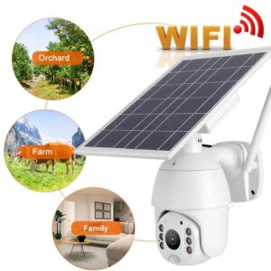 pazari4all.gr-Ηλιακή κάμερα Αδιάβροχη με σύστημα παρακολούθησης νυχτερινής όρασης Intelligent Solar Energy Alert PTZ Camera WiFi