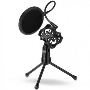 Studio Set Πυκνωτικό Μικρόφωνο EZRA MP03 με Φίλτρο Pop & Τρίποδο-pazari4all.gr