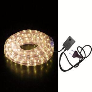Φωτοσωλήνας λευκό θερμό διάφανος 10m με τροφοδοσία 220v 8 εναλλαγές φωτισμού. Φωτοσωλήνας led στρογγυλός διάφανος . Διάμετρος φωτοσωλήνα: Φ 13mm Μήκος φωτοσωλήνα: 10m-pazari4all.gr