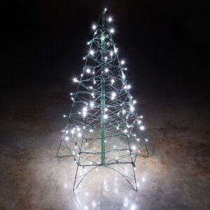 pazari4all.gr-200 LED Λαμπάκια με Πράσινο Καλώδιο - Λευκό Ψυχρό