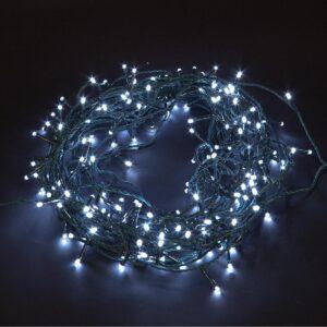 pazari4all-200 LED Λαμπάκια με Πράσινο Καλώδιο – Λευκό Ψυχρό με Μπαταρία