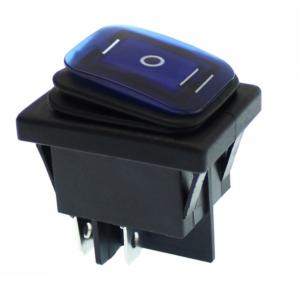Αδιάβροχος Διακόπτης/Κουμπί Εναλλαγής με LED 3 σκάλες 12V-24v – Μαύρο, Μπλε-pazari4all.gr