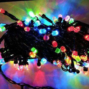 pazari4all-300 LED Χριστουγεννιάτικα Λαμπάκια RGB Διαμαντάκια