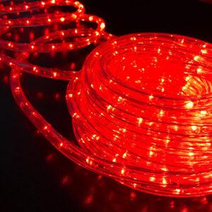 pazari4all-Χριστουγεννιάτικο Διακοσμητικός LED Φωτοσωλήνας 10m Κόκκινος Αδιάβροχος
